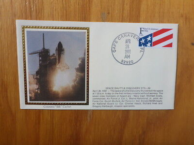 Vintage Usa Colorano Silk Illustrated Space Fdc - Discovery Sts-39 Shuttle