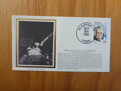 Vintage Usa Colorano Silk Illustrated Space Fdc - Space Vision System