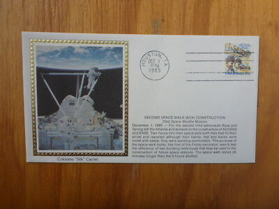 Vintage Usa Colorano Silk Illustrated Space Fdc - Second Space Walk