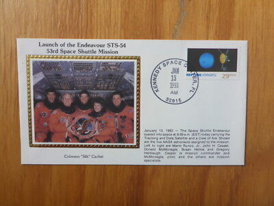 Vintage Usa Colorano Silk Illustrated Space Fdc - Endeavour Sts-52 Launch