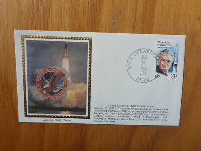 Vintage Usa Colorano Silk Illustrated Space Fdc - Endeavour Sts-54 Launch