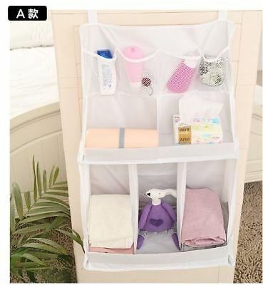 Baby Crib Cot Changing Bed Nursery Storage Bag Hanging Diaper Nappy Organiser
