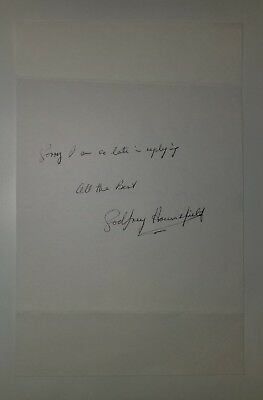 Nobel Prize for Physiology Godfrey Hounsfield Hand Signed Page Todd Mueller COA