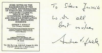 Nobel Prize for Physiology Andrew Schally Hand Signed Cover Todd Mueller COA