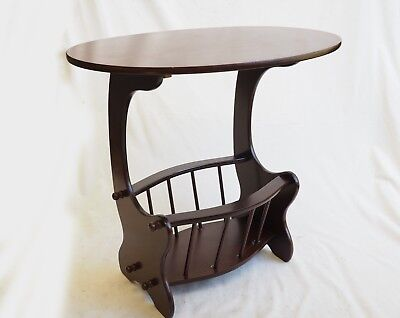 Oval Side Table And Magazine Rack