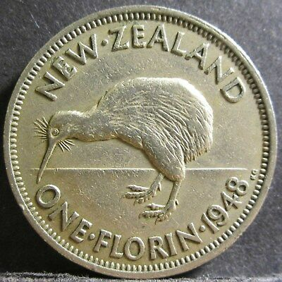 1948 New Zealand 2/- Two Shillings One Florin #PW1807-28