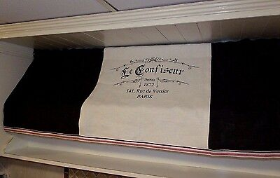 """Custom Made Changeable French Country Awning Style Valance: """" Le Confiseur"""""""