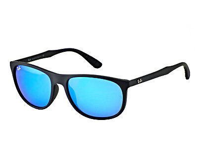 1ab1e08583 Ray-Ban RB4291 601S 55 Black Frame Blue Mirror Lenses Unisex Sunglasses 58mm