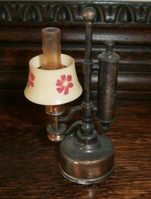 Vintage Collectable Miniature Metal Diecast Oil Lamp Sharpener
