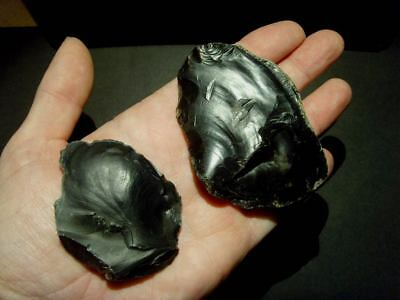 Palaeolithic - Two superb mousterian scrapers -  Rare UK C.60,000 BP