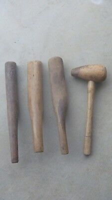 Vintage leadbeater's wooden mallet x4 hammer old tool