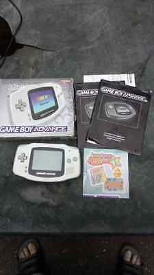 White Nintendo Game Boy Advance Boxed Handheld Console GBA PAL MINT