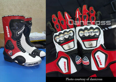 Ducati Leather Racing Boots Gloves Top Quality Leather Gloves Boots Guaranteed