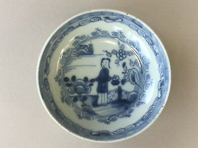 18th C. Chinese Blue and White Deep Saucer - Garden Scene