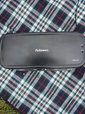 Fellowes L80 A4 Home Laminator, 80 Micron, including 10 free pouches.