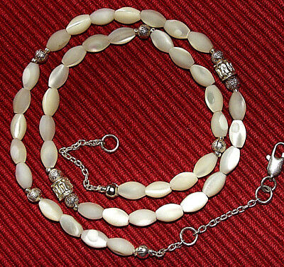 Vintage Perlmutt Kette Mother of Perl Necklace