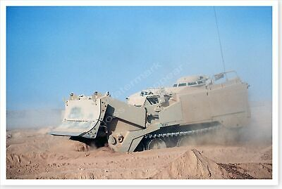 M-9 Armored Combat Earthmover 24th Infantry Division Desert Storm 8x12 Photo