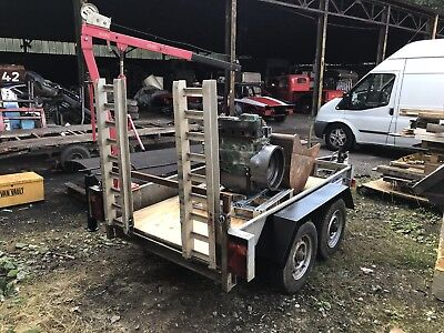 Indespension Plant Trailer With Hydraulic Crane (Hiab)