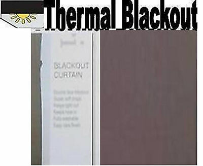 BLACKOUT THERMAL Curtains, MUSHROOM, Pencil Pleat, supersoft unique material