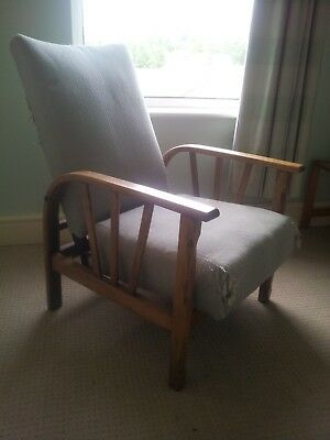 Vintage (1940's ) chairs pair for restoration / recovering