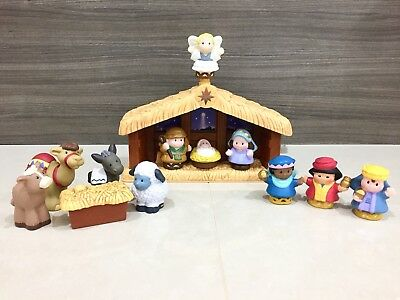 VERY RARE Fisher Price Little People Christmas Nativity Set