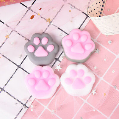 1pc random color softly cat paw relieve stress anti stress squeeze relief toy 6H
