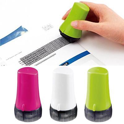 1pcs Guard Your Id Roller Stamp Office Supply Code Security Office Roller Stamps