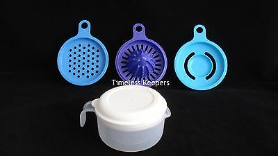 FREE SHIP Tupperware ALL-IN-ONE MATE gadget grater juicer measure 6 oz New Blues