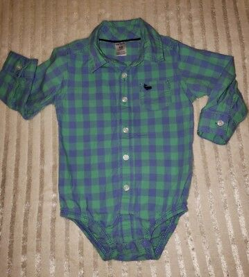Baby boys Shirt size 18 months made by Carter's 100% cotton Button down style
