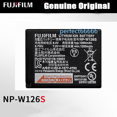 Genuine Original Fujifilm NP-W126S Battery for X-A3/X-A10/X100F/HS50EXR