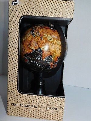 World Globe by Crafted Imports 9 Inches Tall Including Base