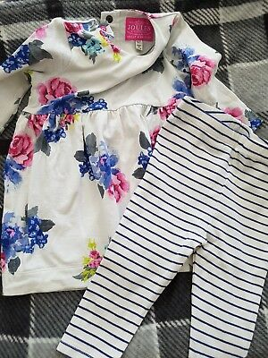 Joules baby girl 3-6 months dress and leggings