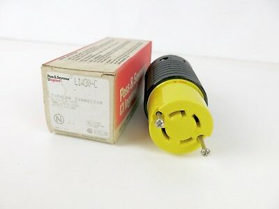 Pass & Seymour L1430C 30 Amp Turnlok Connector Plug 3 Pole 4 Wire 125/250V NOS