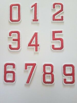 """2/"""" Gold Number 0\1\2\3\4\5\6\7\8\9 Embroidery Iron On Applique Patch"""