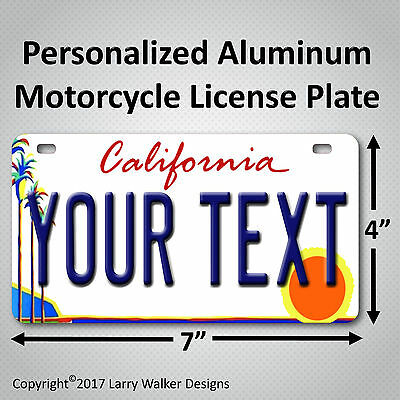 California Palm Any Text Custom Personalized State Motorcycle License Plate Tag