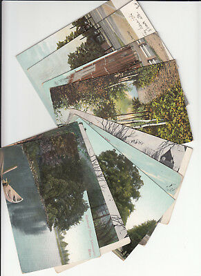 Lot of 10 Vintage Era Postcards Leominster MASS Massachusetts Worcester County