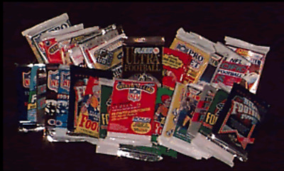 340 FOOTBALL CARDS IN VINTAGE UNOPENED PACKS - Rated #1