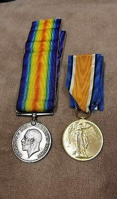 Excellent Pair of WW1 War &Victory Medal Canadian Field Artillery Named/Numbered