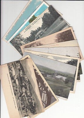 Lot of 10 Vintage Era Postcards East Northfield MA Massachusetts Franklin County