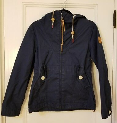Penfield Hudson Wax Cloth Navy Blue Hooded Jacket Mens Size Small