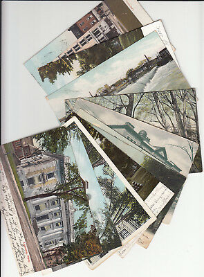 Lot of 11 Vintage Era Postcards Lawrence MASS Massachusetts Essex County MA
