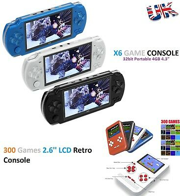 "32bit Portable 4GB 4.3"" Handheld Game Console +10000 Games Built-In +Camera"