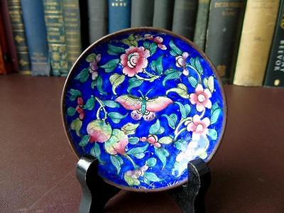 Late 19th/Early 20th c Chinese Lacquered Copper Pin Dish
