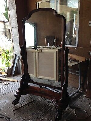 Large Victorian Cheval Mirror