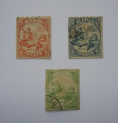 Liberia 1860's used stamps