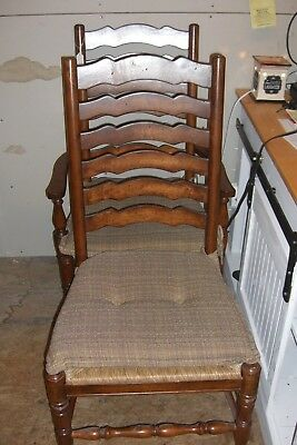 Cane Bottom Ladder Back Chairs 4