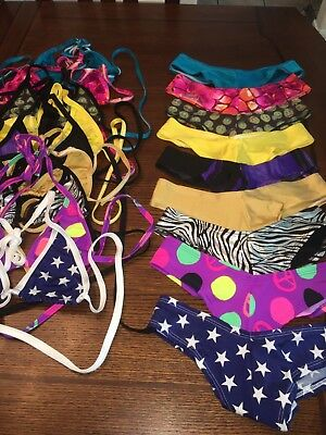 Lot Of Exotic Dancer Tri Top And Scrunch Butt Booty Short Sets 9 New Sets