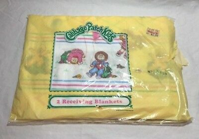 Vintage 80's Cabbage Patch Kids Baby 2 Receiving Blankets Dolls/Balloons New