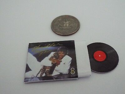 1 Miniature  'Michael Jackson THRILLER ' record album Dollhouse 1:12 scale