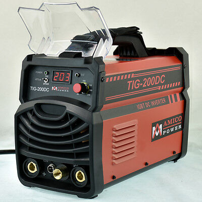 TIG-200DC, 200 Amp TIG Torch Stick ARC DC Inverter Welder, 110V & 230V Welding